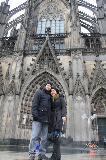 Na Catedral de Colônia.