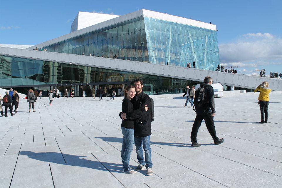 Na Opera House, em Oslo.