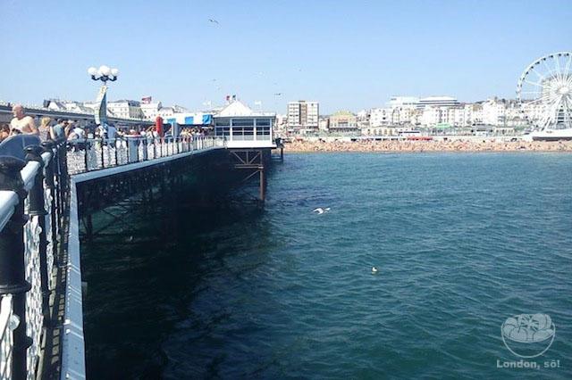 Vista do pier.