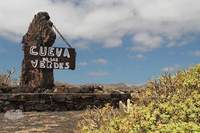 A entrada da Cueva de los Verdes centros turisticos de lanzarote