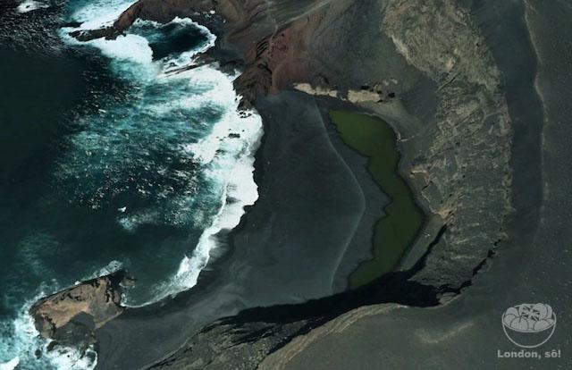 Até no Google Maps o El Golfo é lindo!