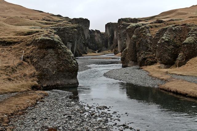Fjadrargljufur canyon na Islândia.