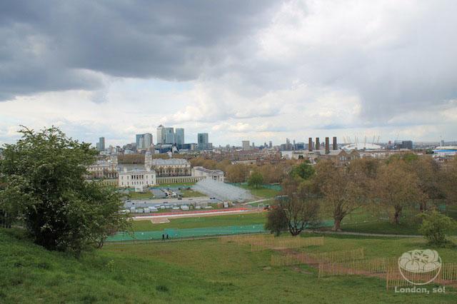 Vista do Parque de Greenwich lá de cima do Observatório.