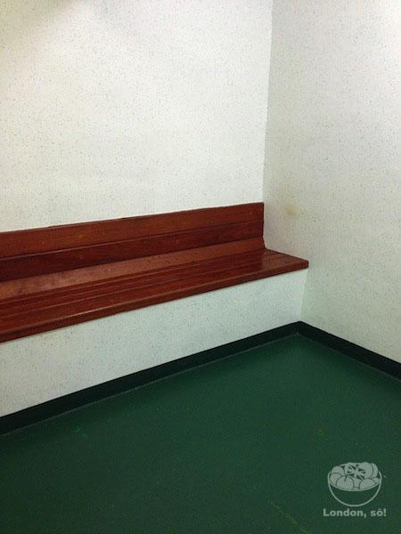 Uma das celas.