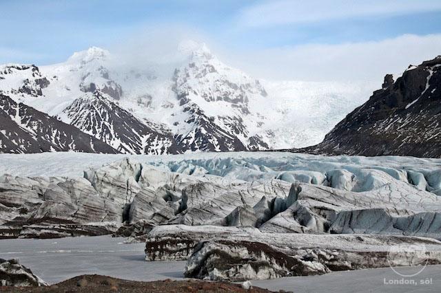 islândia Glaciers em Skaftafell