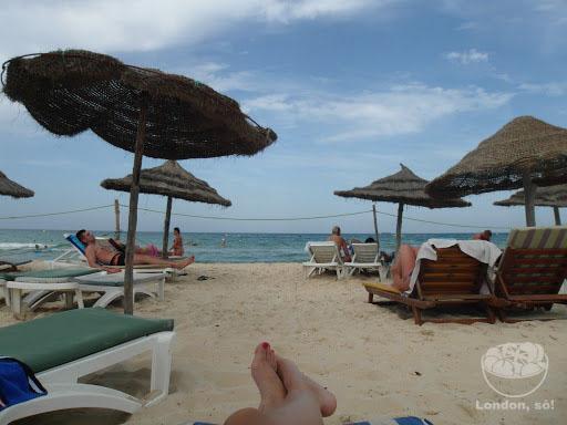Praia de Sousse: uma das poucas coisas boas da viagem.