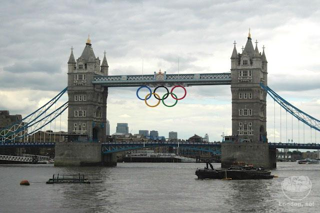 A Tower Bridge pronta para o começo das Olimpíadas!