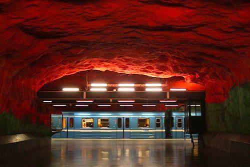As Lindas Estações de Metrô de Estocolmo, capital da Suécia