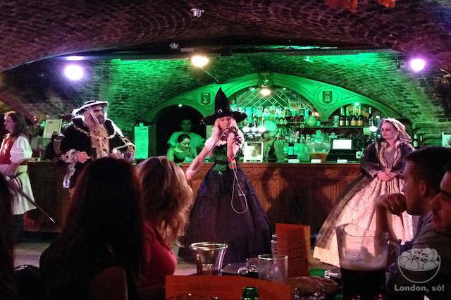 banquete medieval em Londres