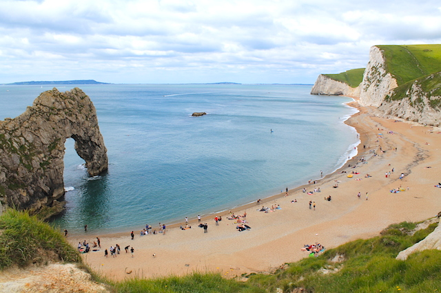 Durdle Door perto de Bournemouth.