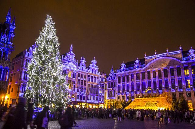 Mercado de Natal de Bruxelas, Bélgica. Foto: Visit Brussels