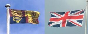 O Estandarte e a Union Flag.