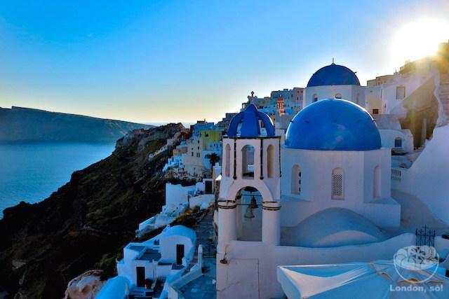 O que fazer em Santorini: pôr-do-sol em Oia