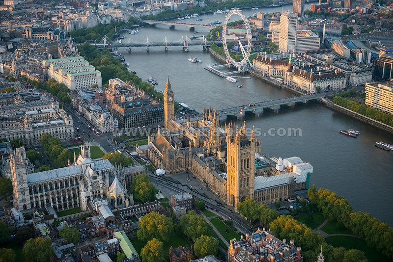 A Abadia de Westminster, Parlamento e London Eye.