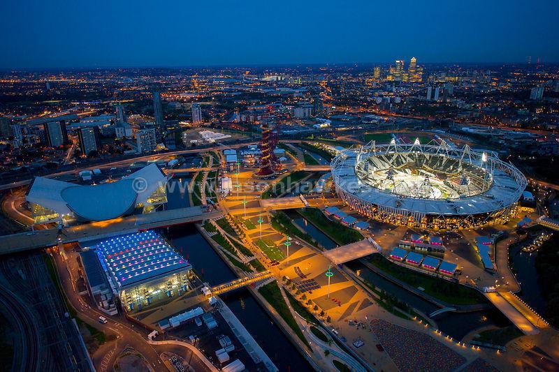 O Parque Olímpico em Stratford.