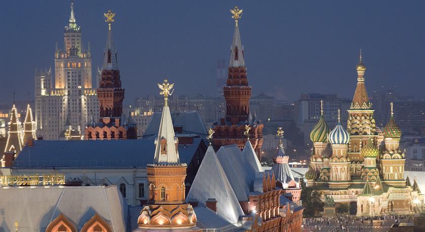 Vista do lounge do Ritz-Carlton Hotel, Moscow.