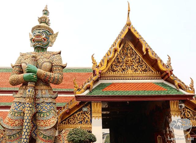 Detalhes do Grand Palace em Bangkok.
