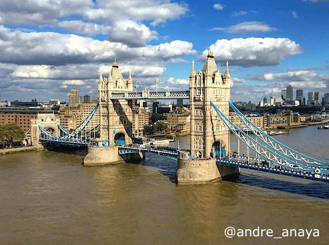 Tower Bridge em um belo dia de sol em Londres.