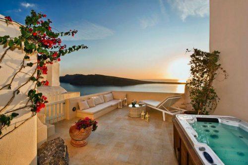 Hotéis em Santorini com vista do pôr-do-sol