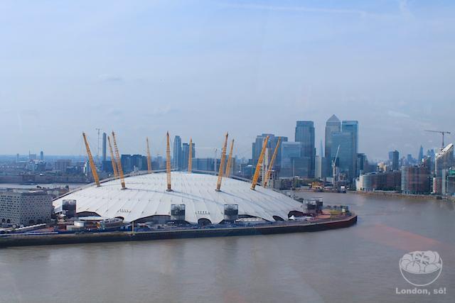Emirates Air Line London: o bondinho de Londres e a vista da O2 e Canary Wharf.