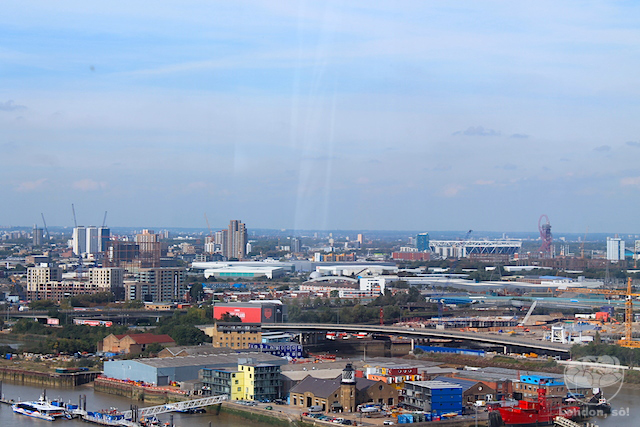 Emirates Air Line London: o bondinho de Londres e a vista do parque olímpico.