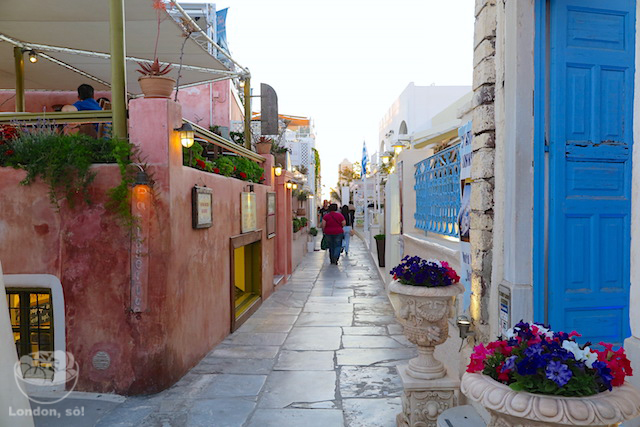 O que fazer em Santorini: Oia.