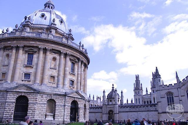 Radcliffe Camera, dentro da Oxford University.