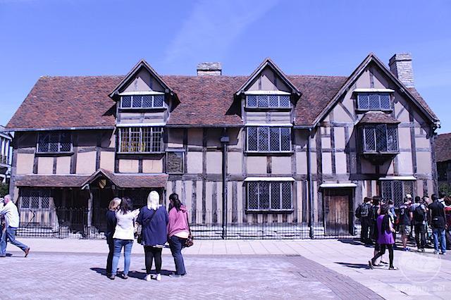 A casa onde Shakespeare nasceu.