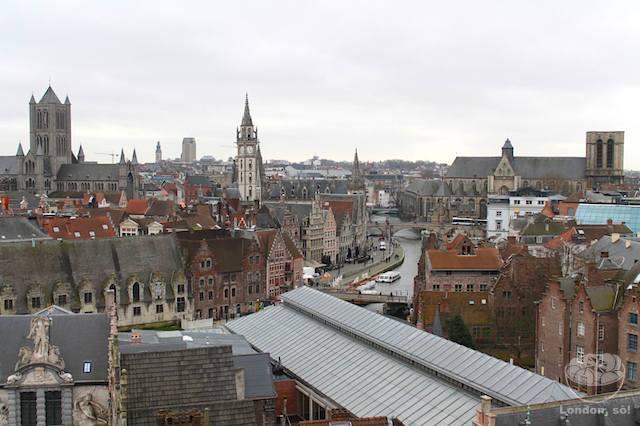 O que fazer em Gent: Vista de Gent pelo alto do Castelo.
