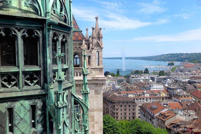 O que fazer em Genebra: A vista do alto da Catedral de Genebra.
