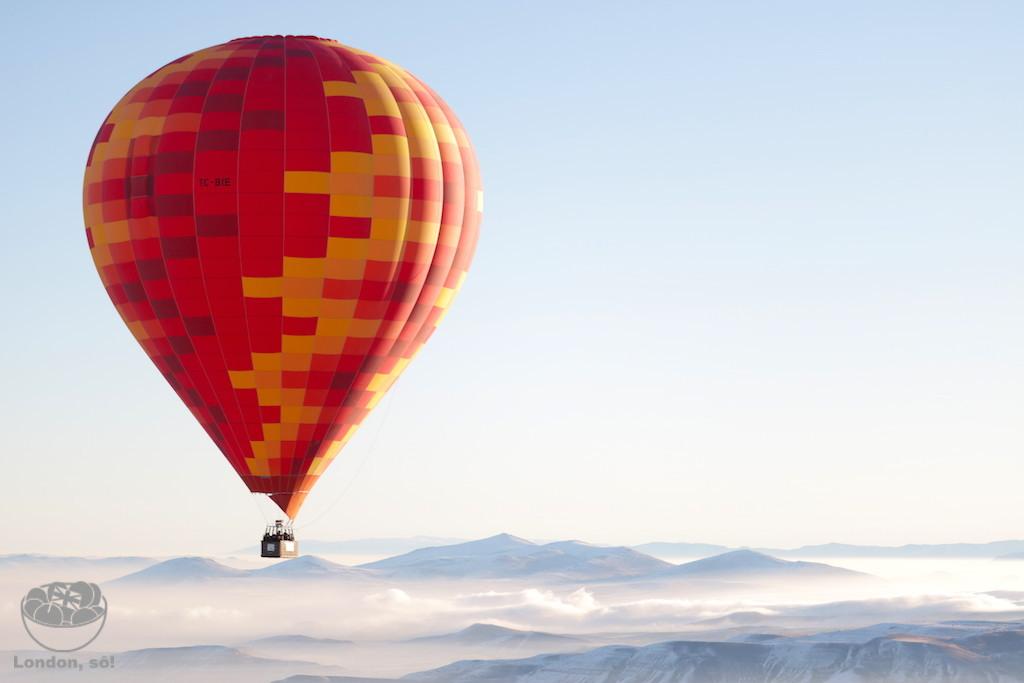 vôo de balão na Capadócia
