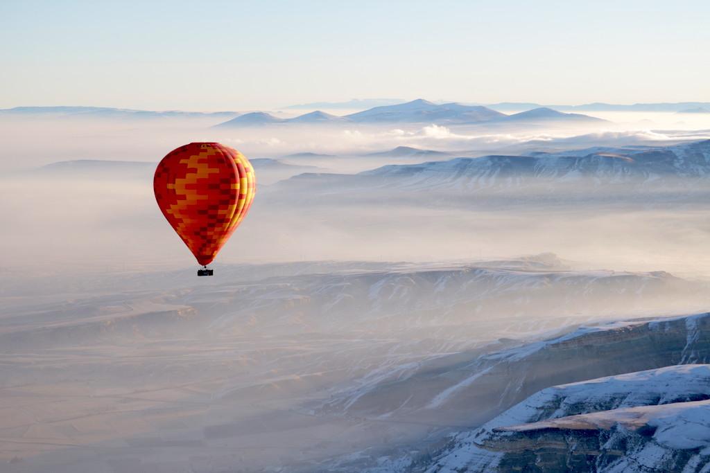 Como é o passeio de balão na Capadócia (no Inverno!)